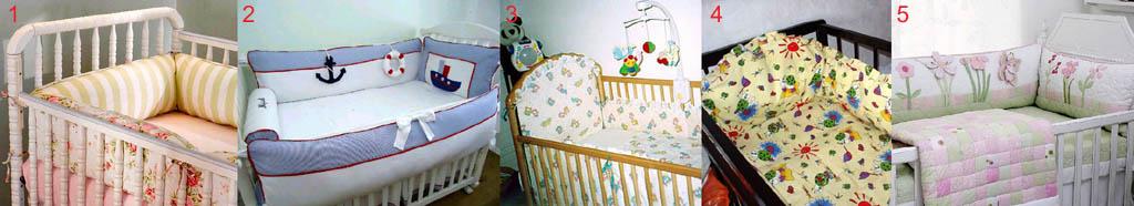 Правильные цветовые тона и расцветки мягких бортиков в детскую кроватку