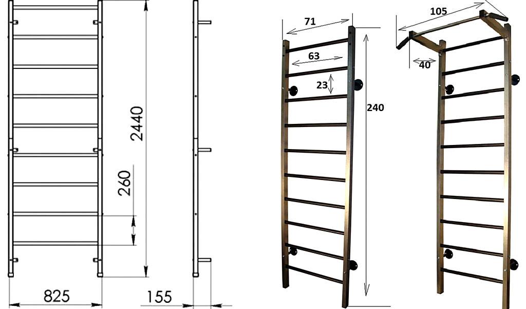 Как сделать шведскую стенку из металла 337