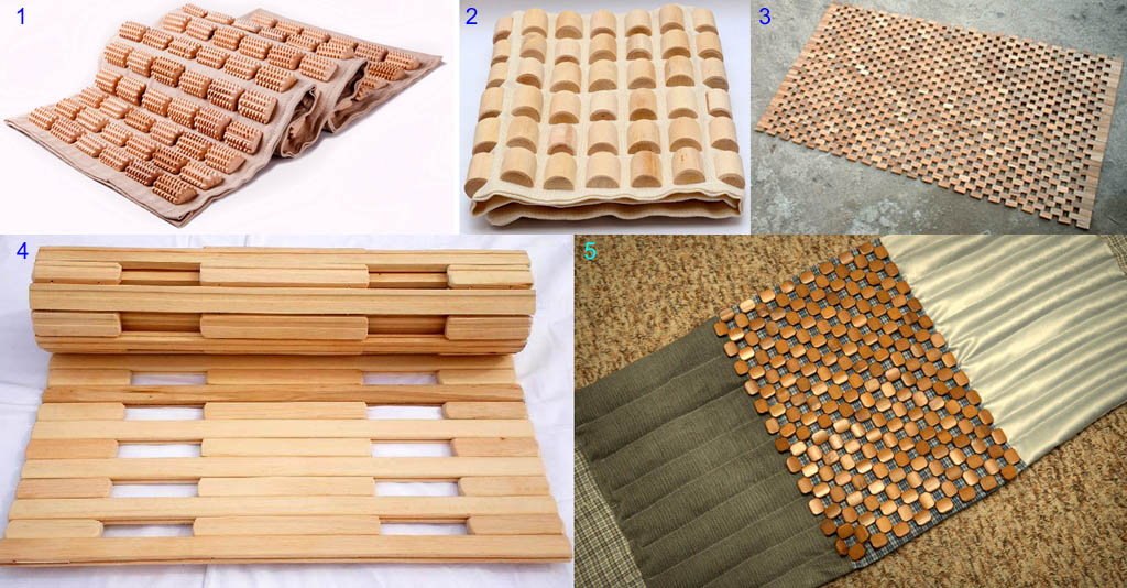 Массажные коврики из дерева