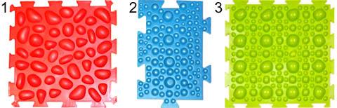 Правильная и неправильная поверхностная структура массажных ковриков