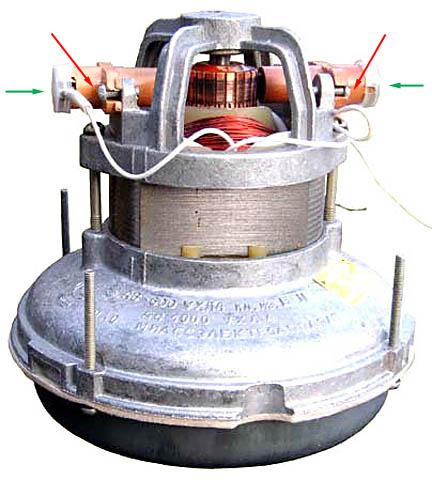 Щеточно-коллекторный узел двигателя пылесоса