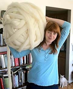 Сверхтолстая пряжа для вязания толстого пледа