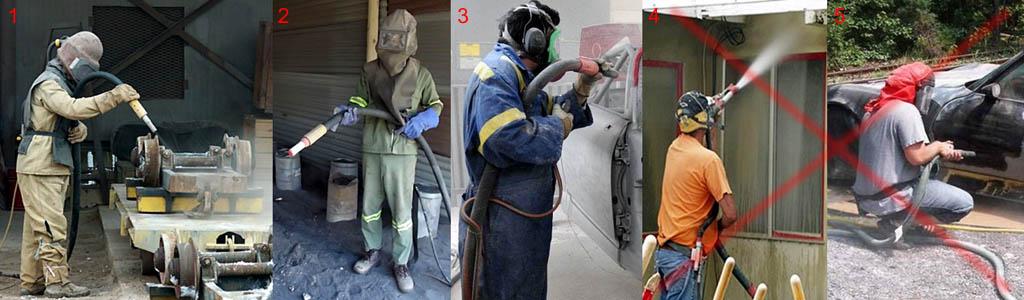 Правила техники безопасности при производстве пескотруйных работ