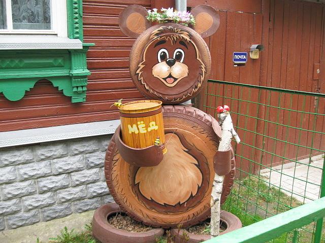 Поделки из шин медведя своими руками 92