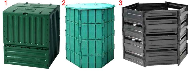 Готовые компостеры для компостирования органических отходов на удобрение и перегной