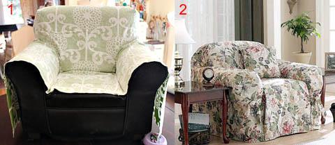 Накидки на кресло без чехла и в чехле