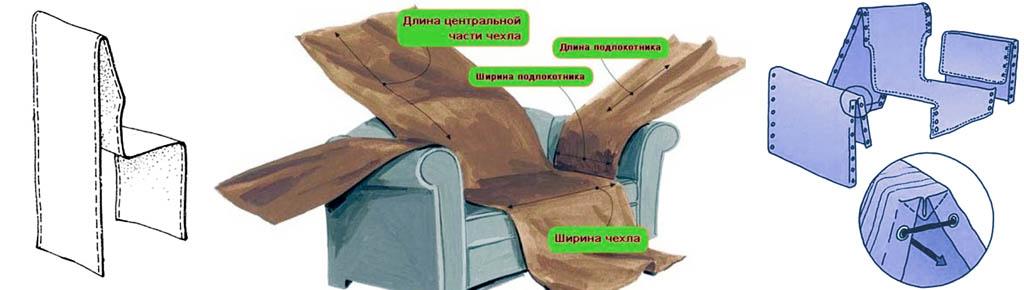Накидки на кресло в комнате и на веранде (в беседке, под навесом)