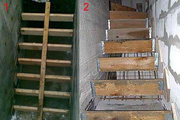Неправильно выполненные самодельные лестницы в подвал