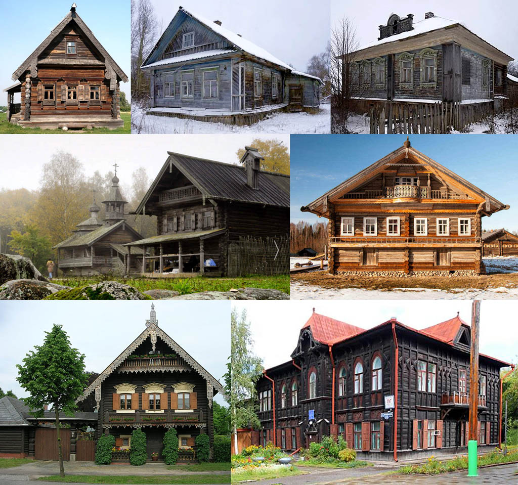 Старинные рубленые дома