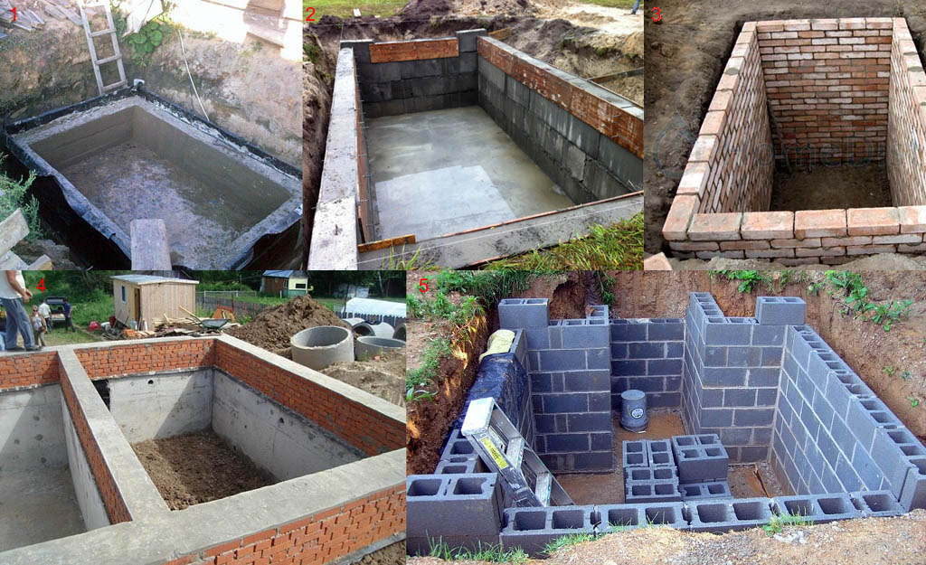 Строительство подвала из различных конструкционных материалов