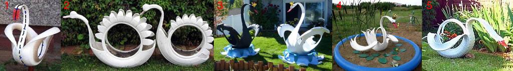 Виды лебедей из шин разных видов с различным кордом