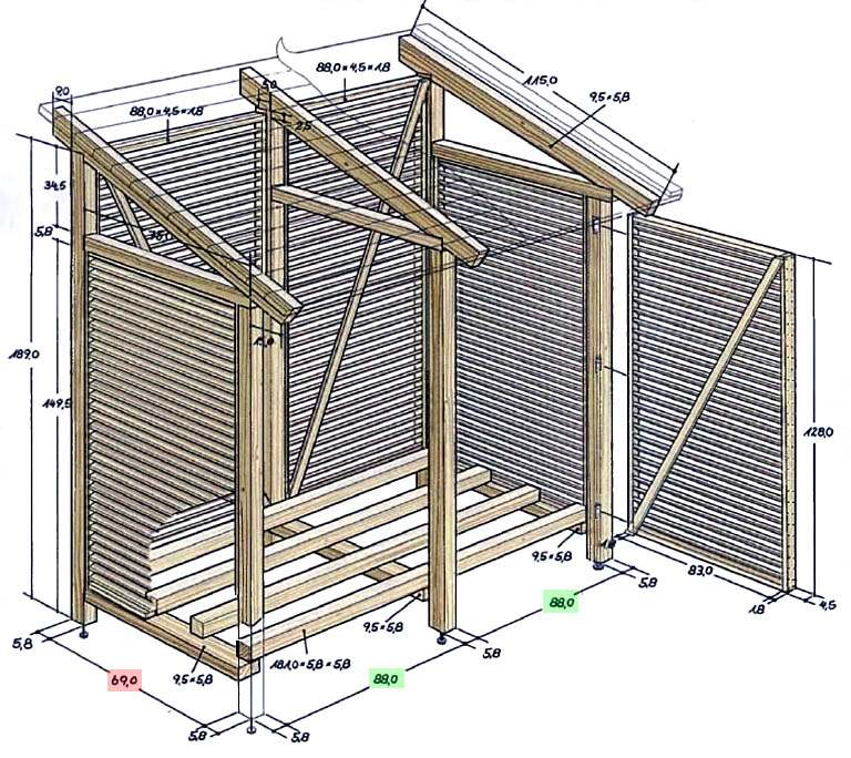 Конструкция непросматриваемой дачной мини-террасы