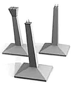 Монолитные фундаментные опоры для террас и леких нежилых строений