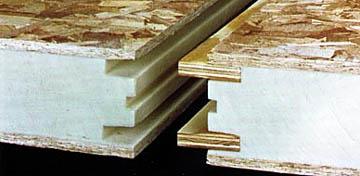 Соединение СИП панелей на фанерных ламелях
