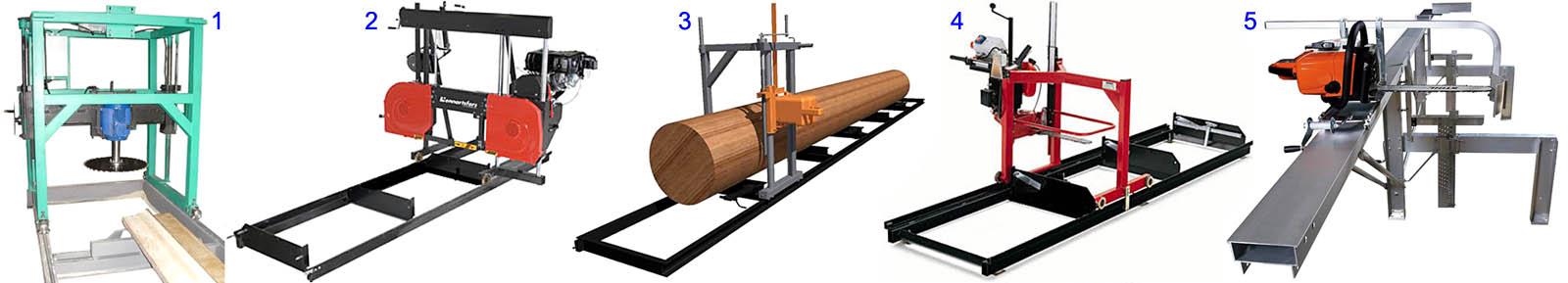 Виды конструкций пилорам небольшой и средней производительности