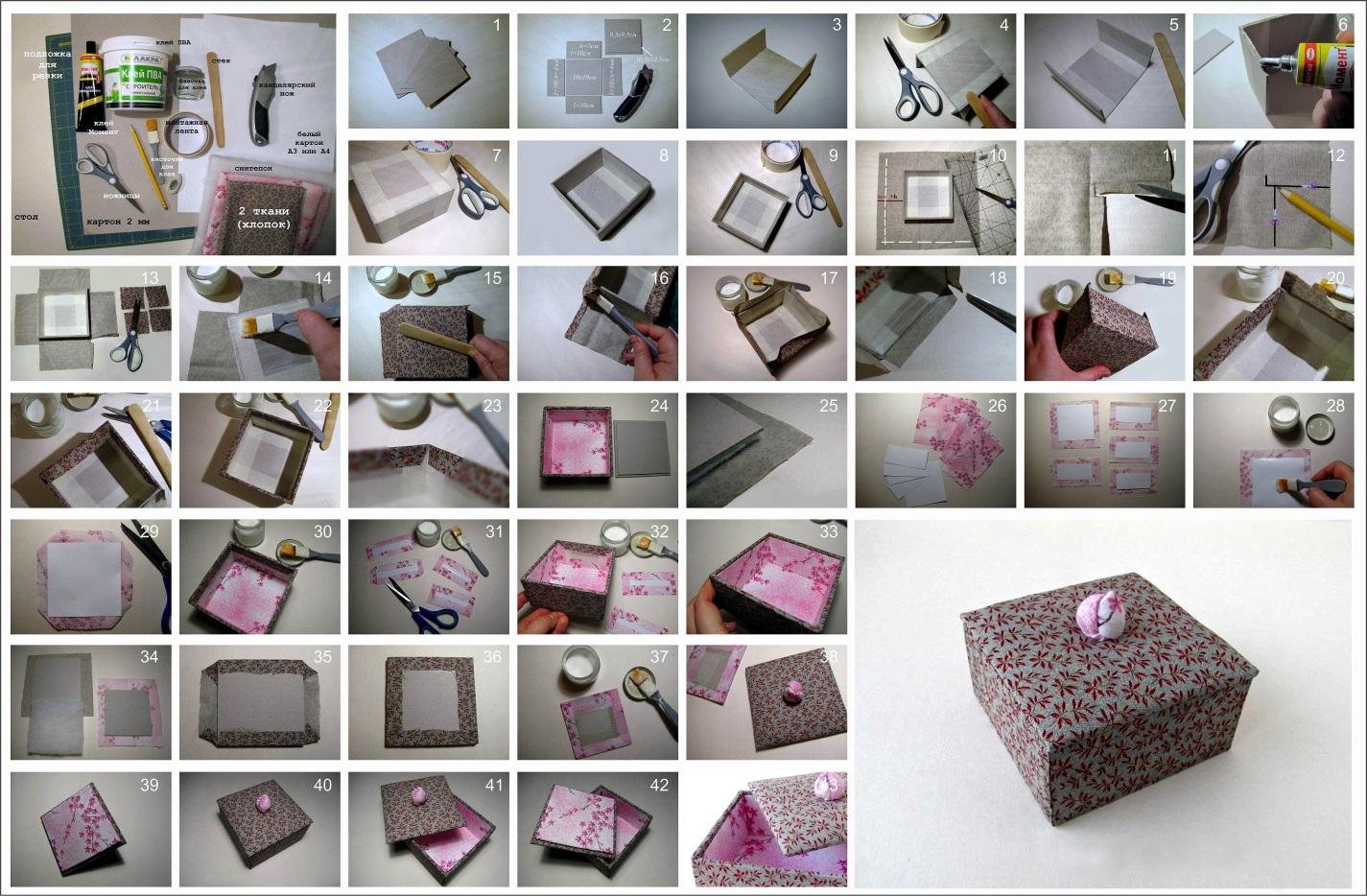 Мастер-класс по изготовлению шкатулки из картона