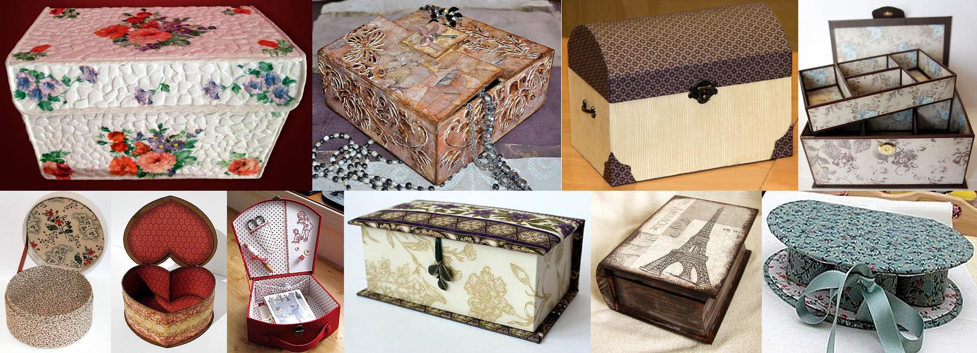Образцы шкатулок из картона