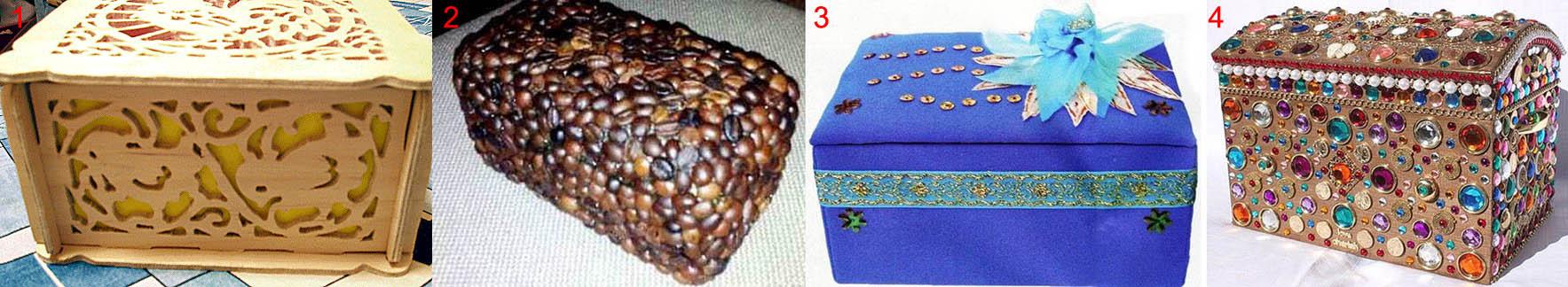 Способы упрочнения шкатулки из коробки