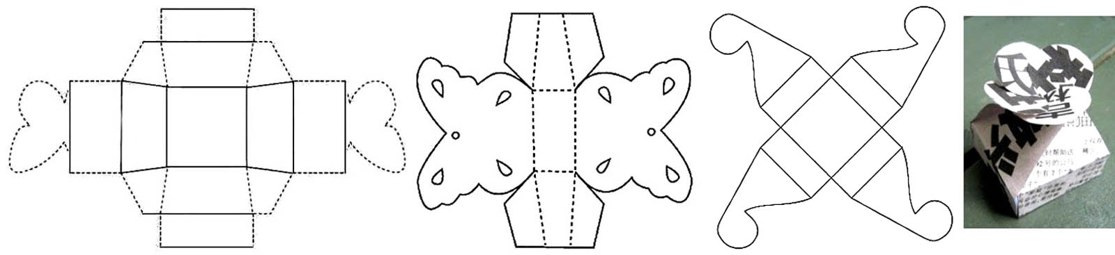 Выкройки шкатулок из картона