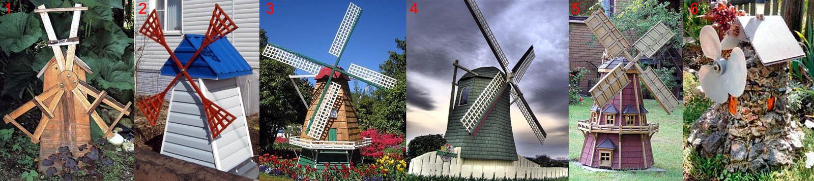 Как не надо делать декоративную ветряную мельницу