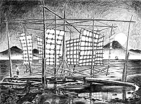 Китайская вертикальная безбашенная бамбуковая ветряная мельница