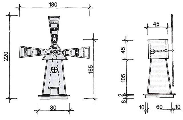 Минимальные размеры декоративной настольной мини-мельницы
