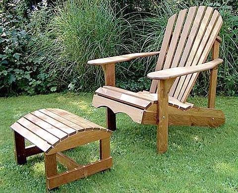 Садовое кресло адирондакского типа