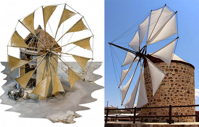 Ветряные мельницы с парусным ротором