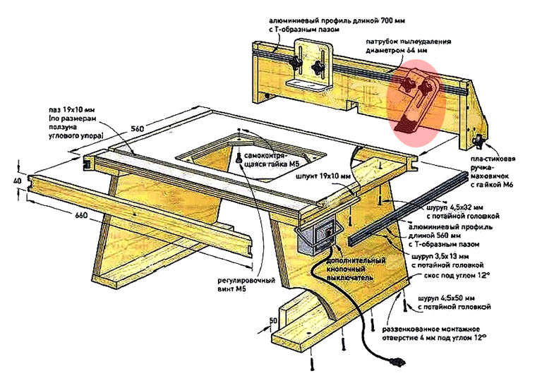 Фиксация гребенчатого упора фрезерного стола стопорным блоком