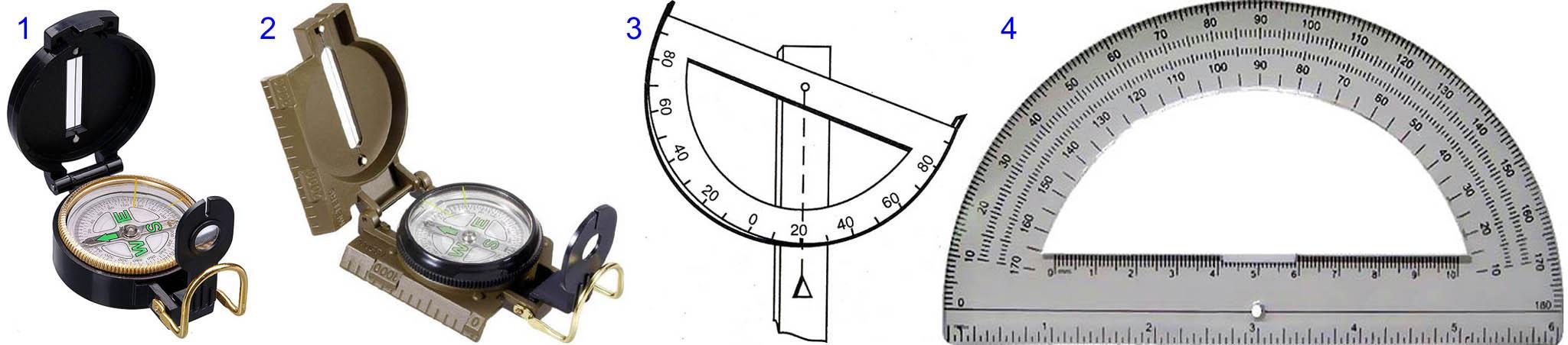 Какие нужны компас с визиром и транспортир для изготовления глазомерного нивелира