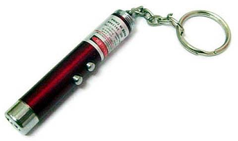 Лазерная указка-брелок, пригодная для использования в самодельном нивелире