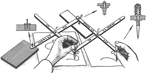 Рисовально-чертежный пантограф с масштабированием