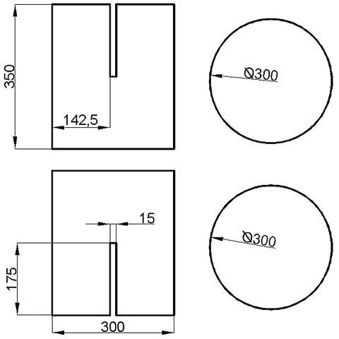 Чертежи основы простого круглого пуфика из фанеры