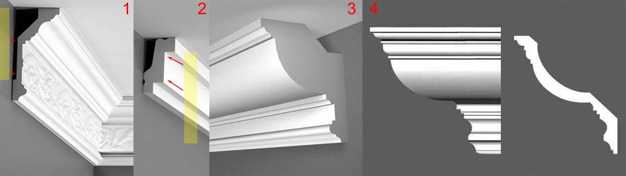 Как выбрать профиль потолочного плинтуса на багет для картины