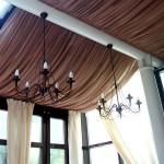 Потолки из ткани: способы изготовления натяжных и декоративных