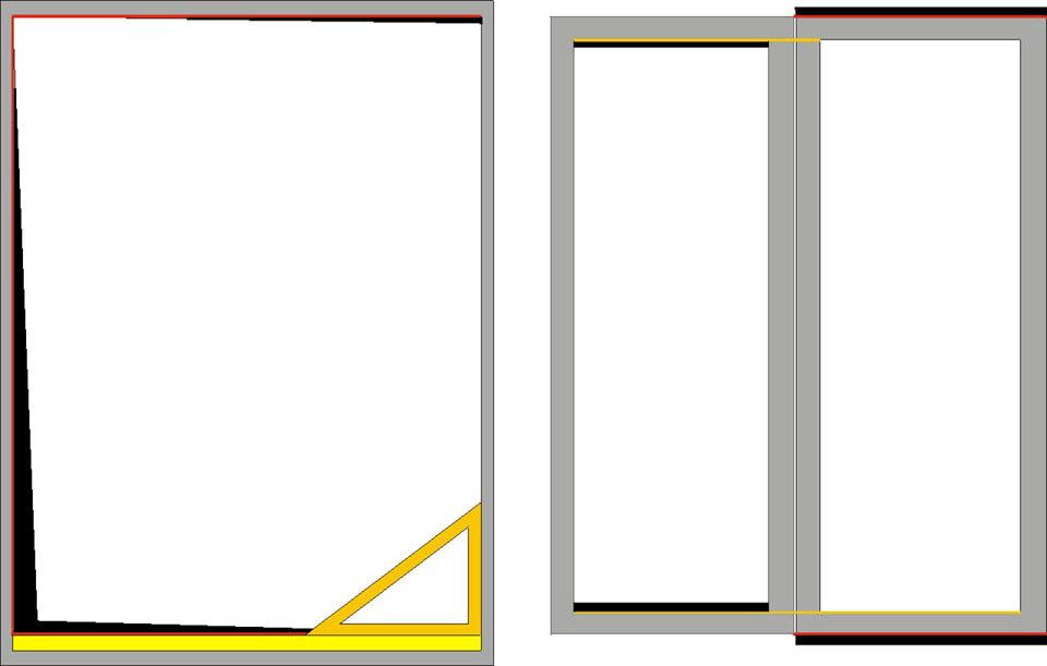 Подгонка рамы и створок окна