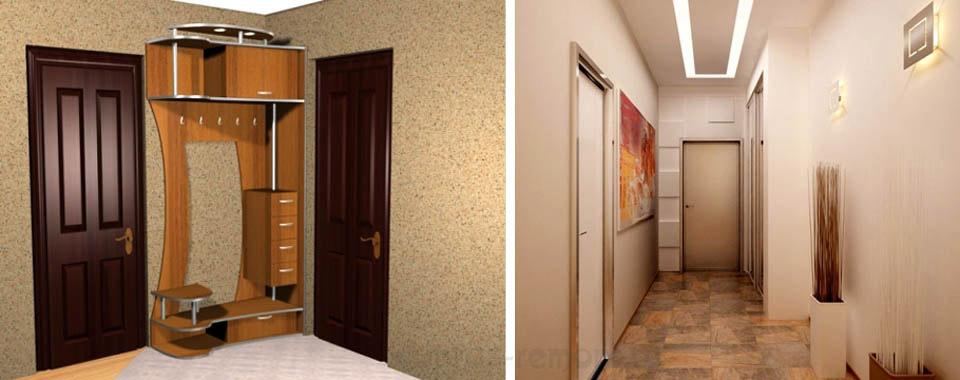 Прихожая-коробочка (слева) и прихожая-коридор (справа)