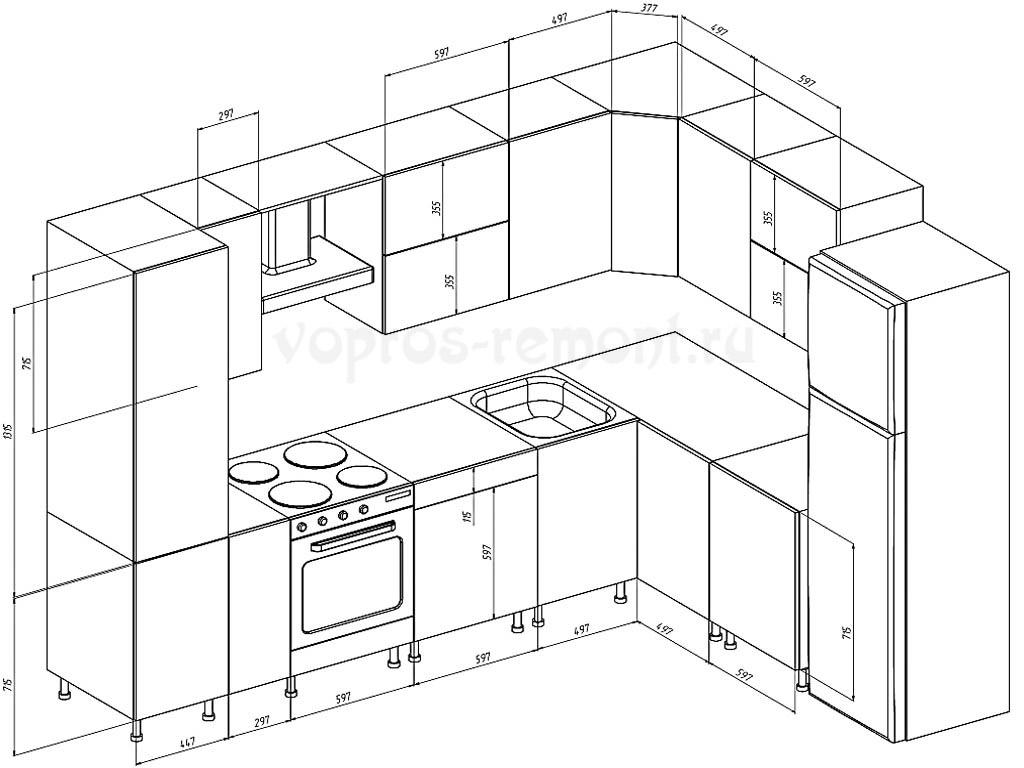 План оборудования кухни
