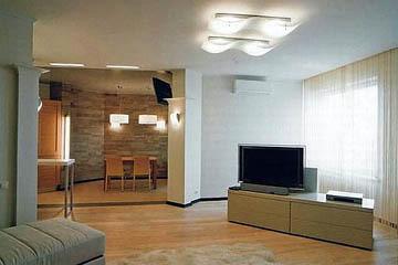 Освещение квартиры-студии