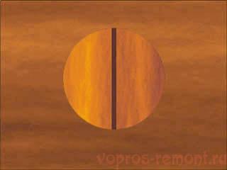 Ориентация клинышка относительно волокон древесины