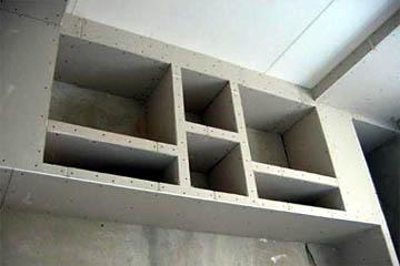 Шкаф из ГКЛ без отделки