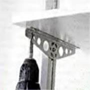 Подвеска полок на кронштейн в профиле
