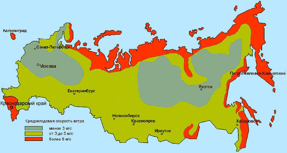 Ветроэнергетические ресурсы России