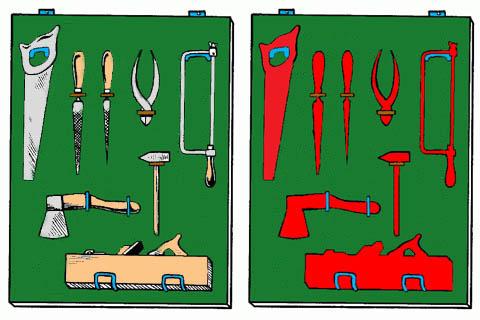 Самодельный стеллаж для инструмента