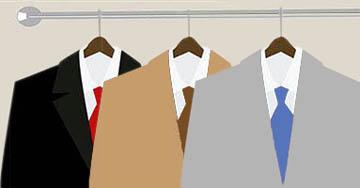Размещение одежды в сверхкомпактной гардеробной