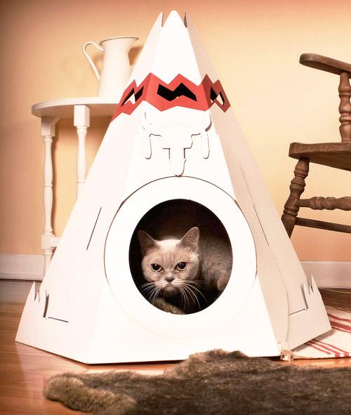 Домик-вигвам для гладкошерстной кошки