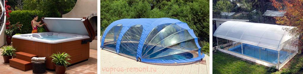 Крыша, тент и навес для бассейна