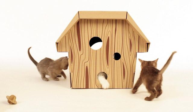 Домик-конура для кошки с выводком