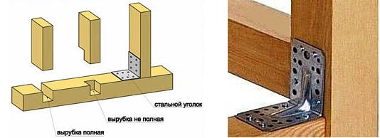 Крепление стоек и столбов к обвязке