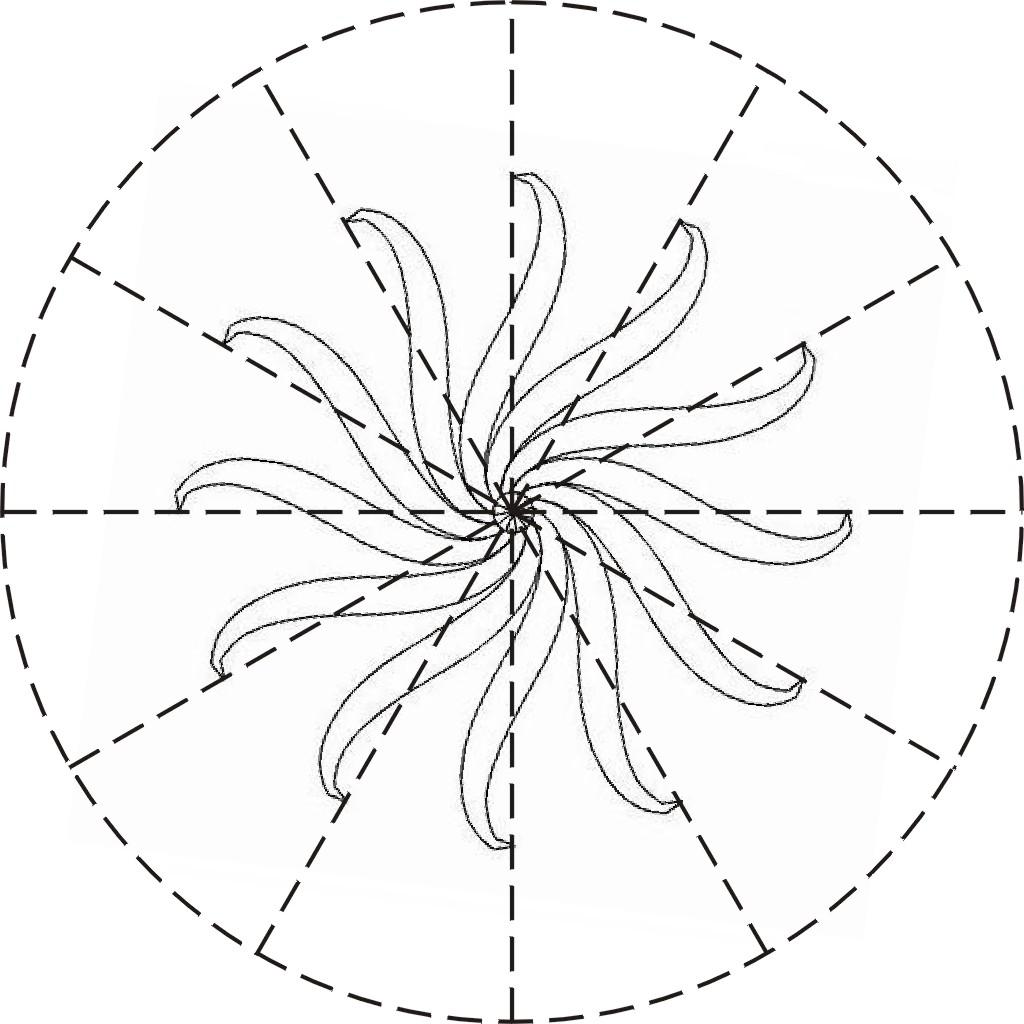 Шаблон для склейки заготовок плетеного елочного шара